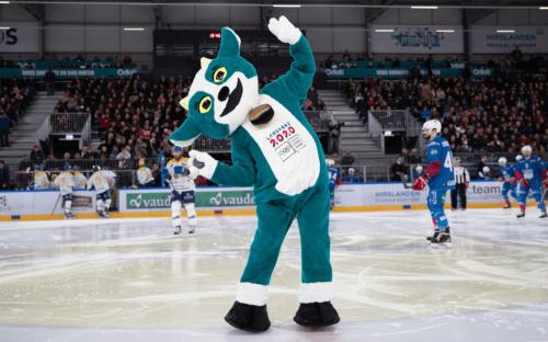 Lancement de la mascotte «Yodli» de Lausanne 2020 à Malley 2.0