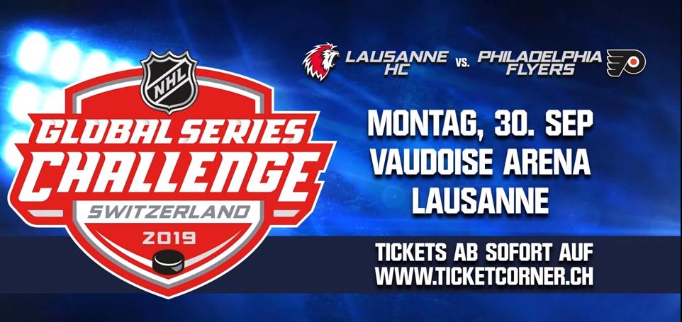 Match de la NHL à la Vaudoise aréna, Lausanne HC vs Philadelphia Flyers
