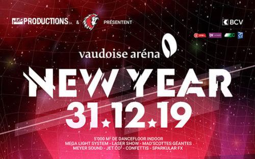 New Year Vaudoise aréna le 31 décembre 2019 avec de nombreux artistes