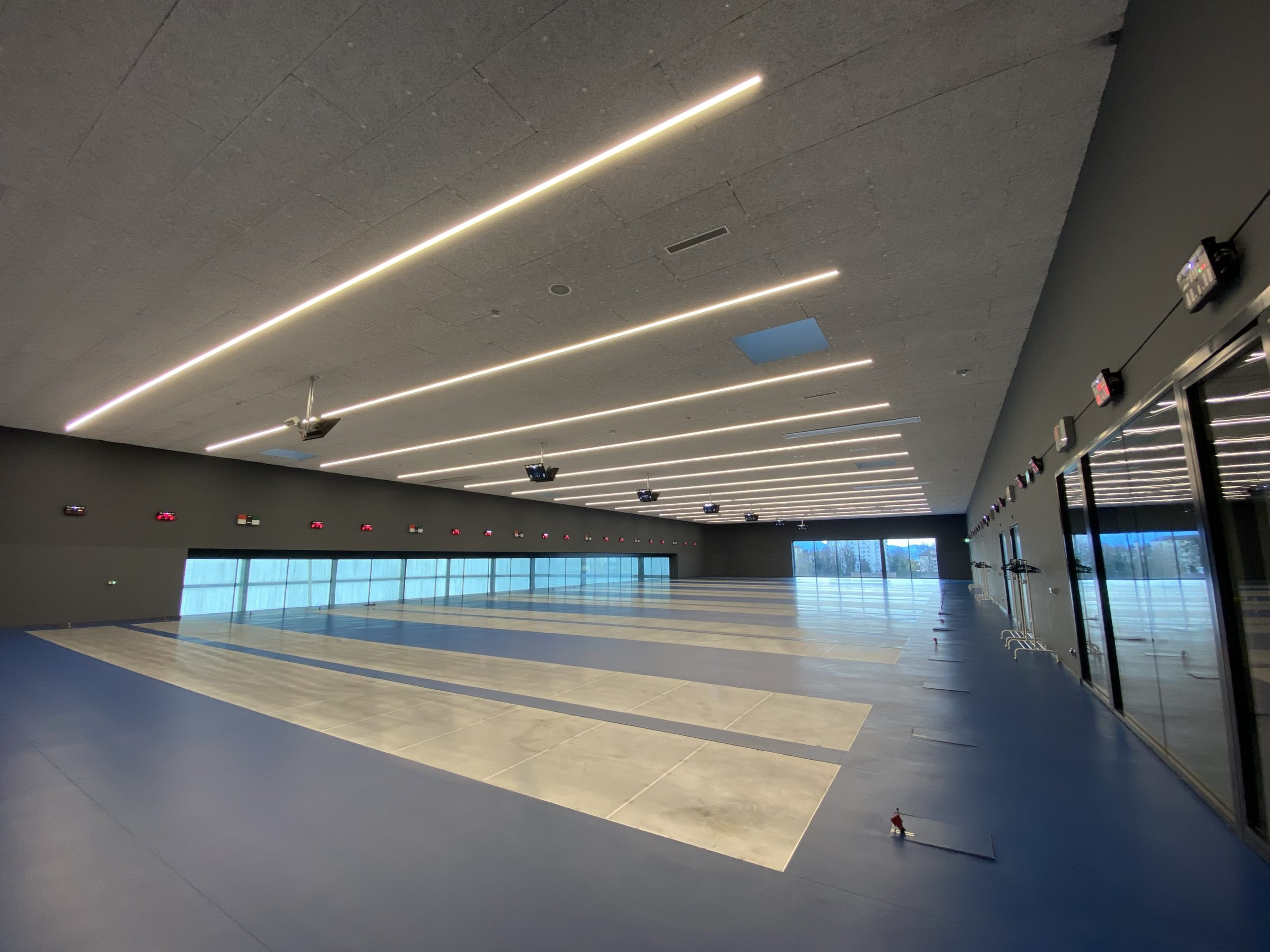 Salle escrime de la Vaudoise aréna, pour le club Cercle des Armes de Lausanne