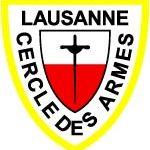 Logo du club d'escrime Cercle des Armes Lausanne. Le club s'entraine dans une salle située à la Vaudoise aréna.