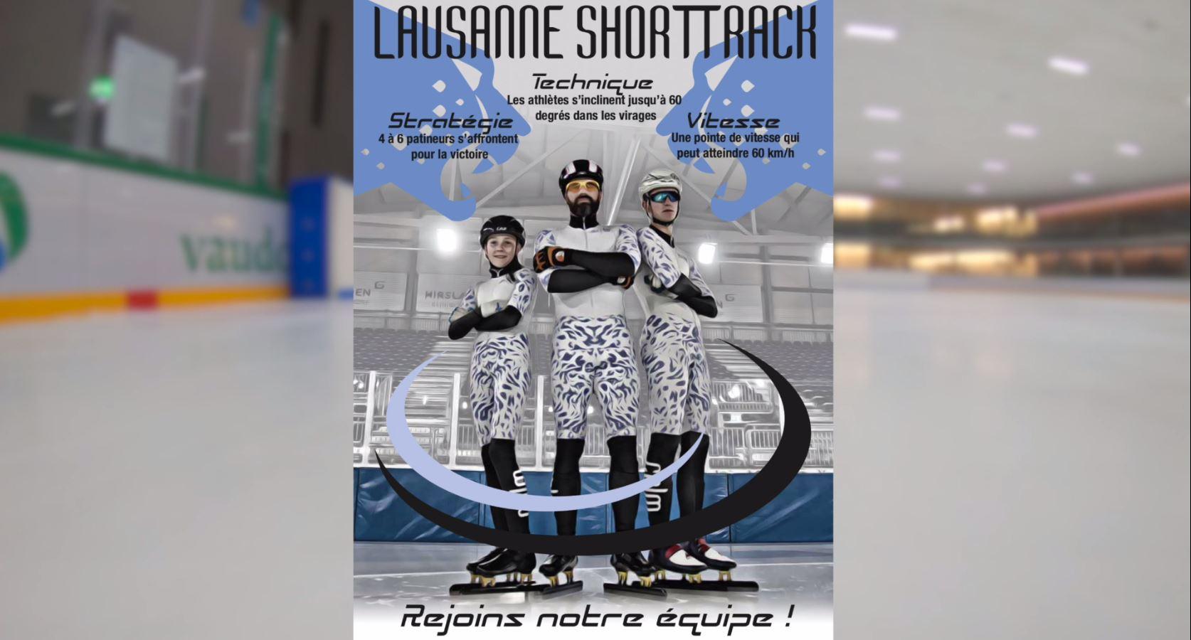 Vidéo de promotion du short track à la Vaudoise aréna