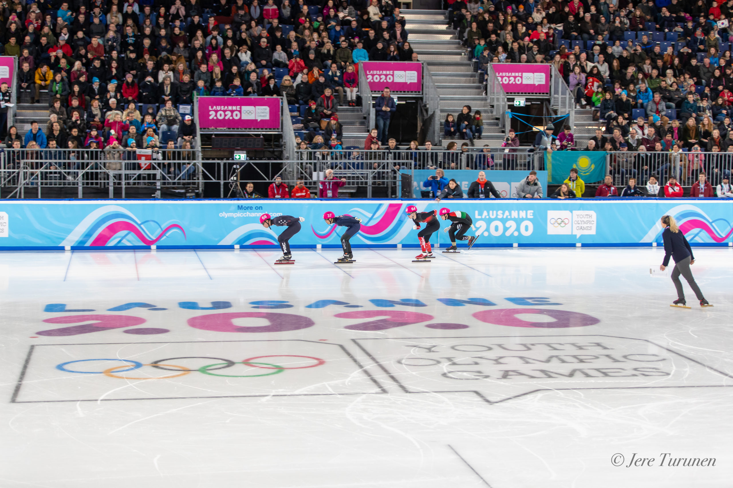 Compétition de Short Track à Malley 2.0 lors des Jeux Olympiques de la Jeunesse 2020 à Lausanne