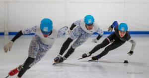 Fête de la glace initiation de short-track à la Vaudoise aréna - 7 novembre 2021